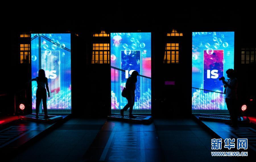 Ночной Бангкок во время фестиваля искусственного освещения