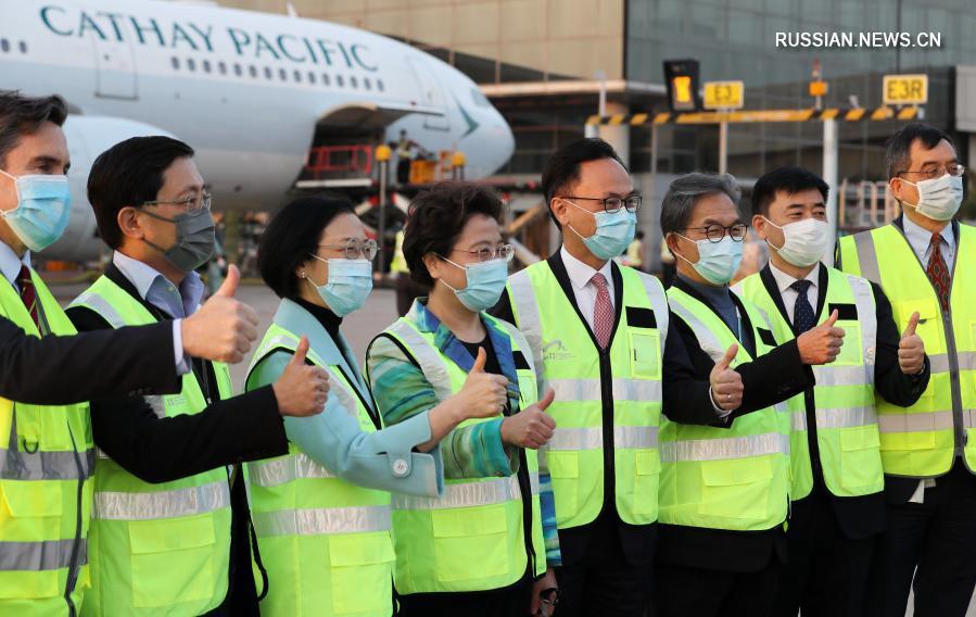 Первая партия вакцины Sinovac прибыла в Сянган