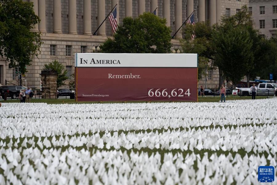 Вашингтон: 660 тыс. белых знамен в память погибших от COVID-19