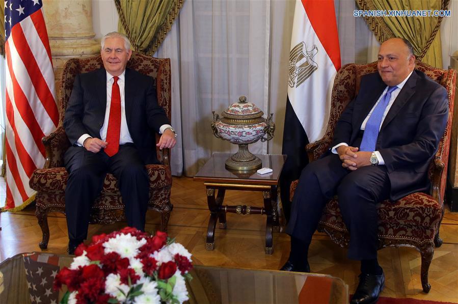 (1)EGIPTO-CAIRO-EEUU-SHOUKRY-TILLERSON