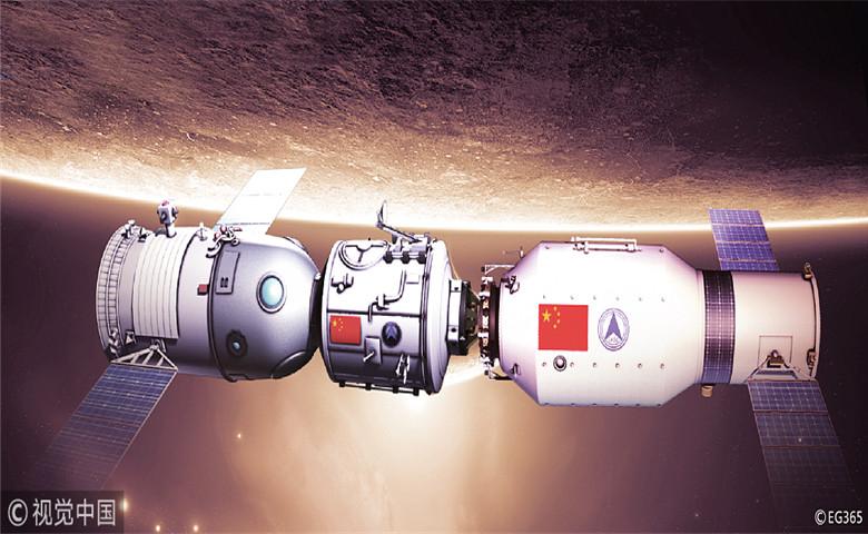 La estación espacial china Tiangong-1 cae sobre la Tierra