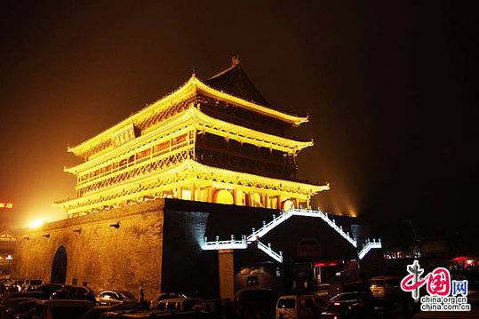 Drum Tower,one of the 'Top 10 things to do in Xi'an, China' by China.org.cn.