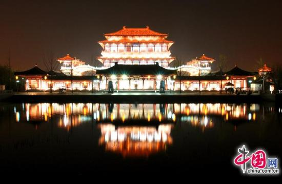 Tang Paradise, one of the 'Top 10 attractions in Shaanxi, China' by China.org.cn