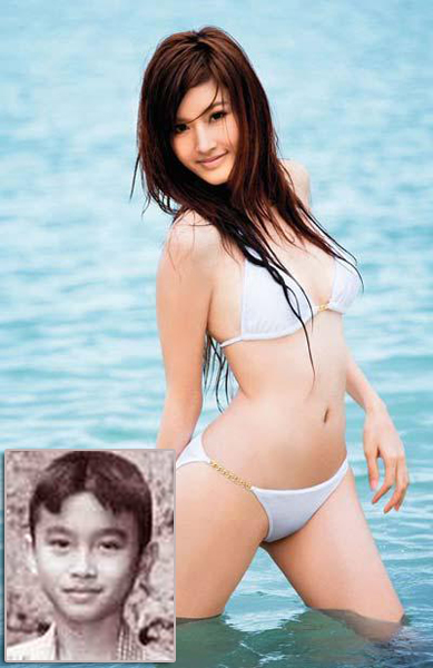 Nong Poy,one of the 'Top 10 transsexual entertainers in Asia'by China.org.cn.
