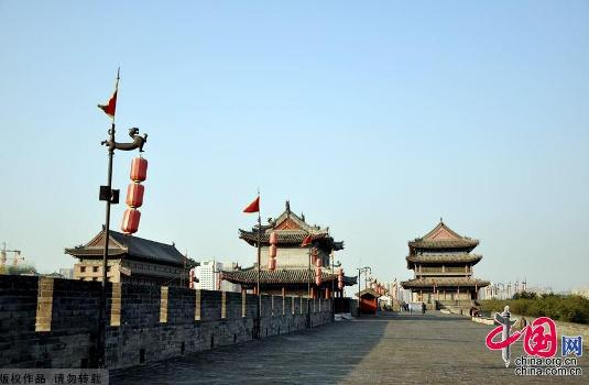 Xi'an City Wall in Xi'an, one of the 'Top 10 landmarks in China' by China.org.cn