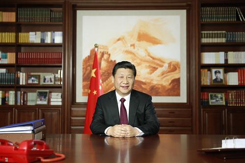 2014年12月31日,国家主席习近平通过中国国际广播电台、中央人民广播电台、中央电视台发表二〇一五年新年贺词。[新华社]