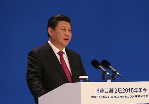 3月28日,国家主席习近平在海南博鳌出席博鳌亚洲论坛2015年年会开幕式并发表主旨演讲。[新华社]