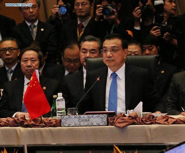 11月21日,国务院总理李克强在马来西亚吉隆坡出席第十八次中国-东盟(10+1)领导人会议并发表讲话。[新华社]
