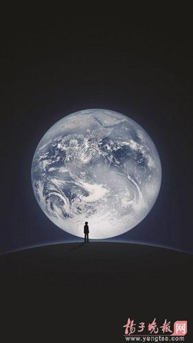 用户登录微信时所见的地球影像图 [扬子晚报网]