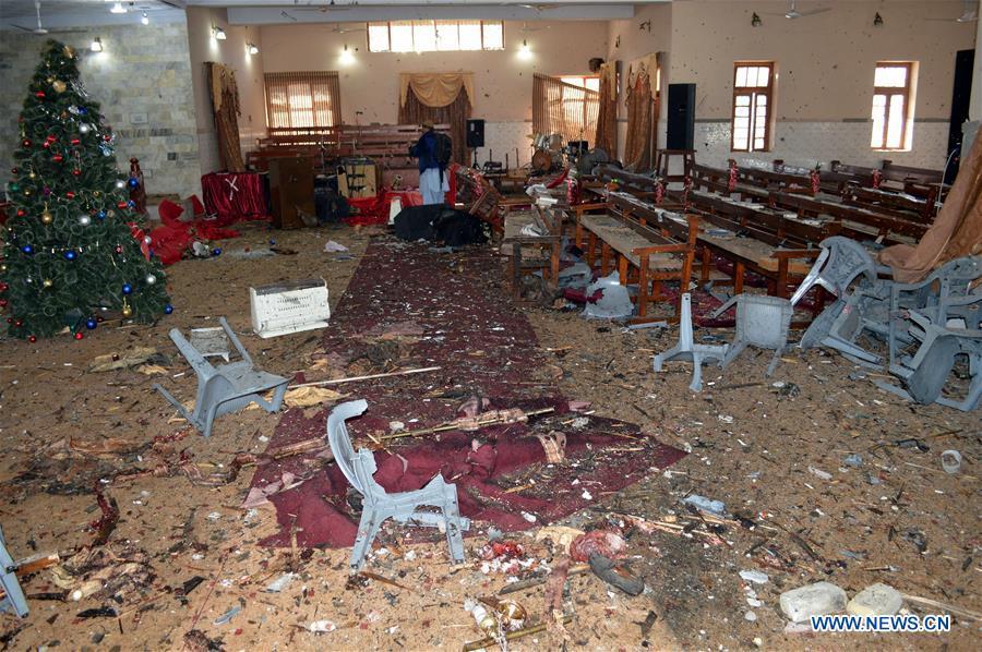 9 dead in attack on church in Pakistan