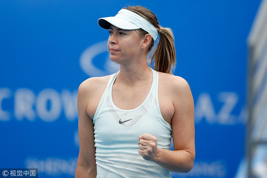 Sharapova, Halep advance at Shenzhen Open