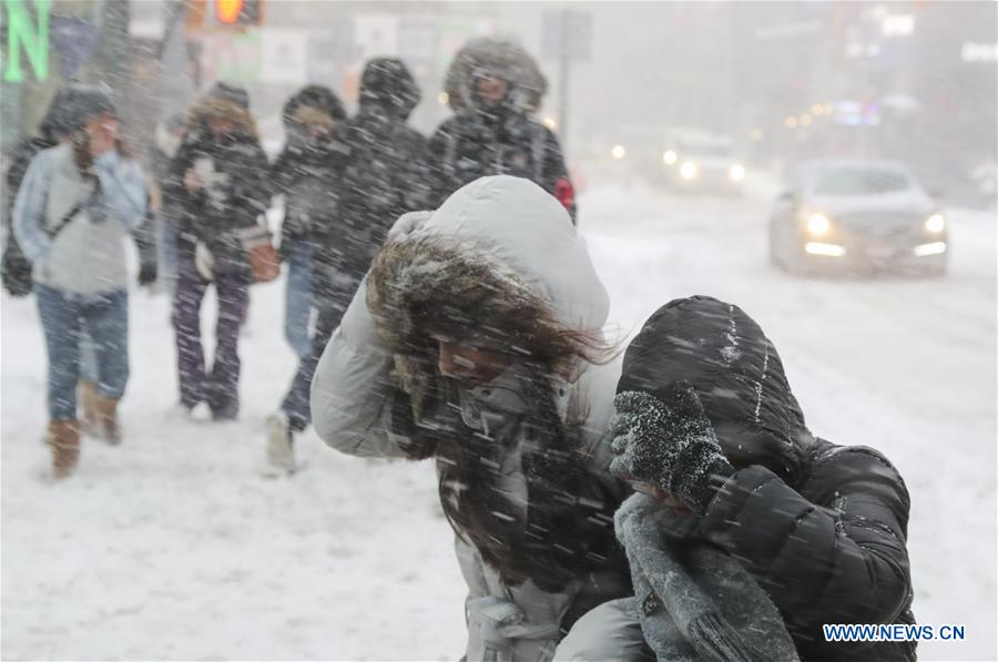 Bomb cyclone has America's east coast in deep freeze