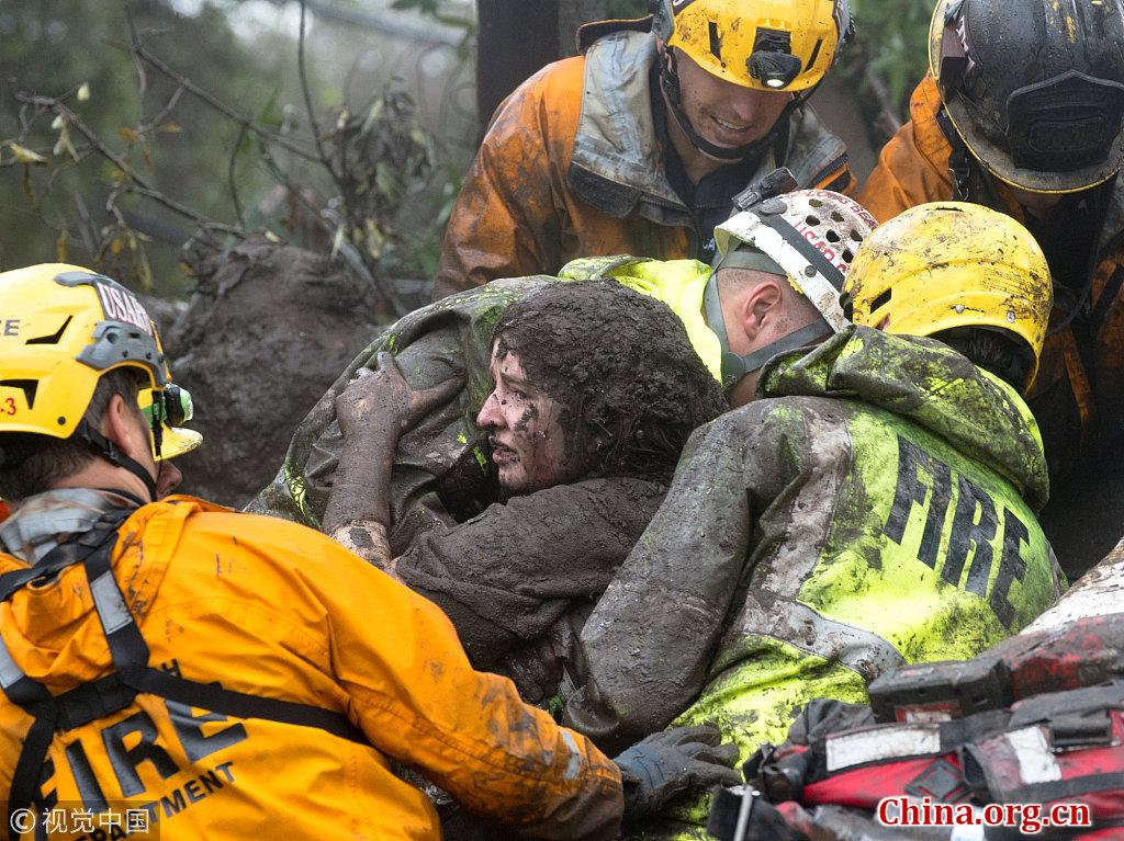 First responders search for several still missing after California mudslides