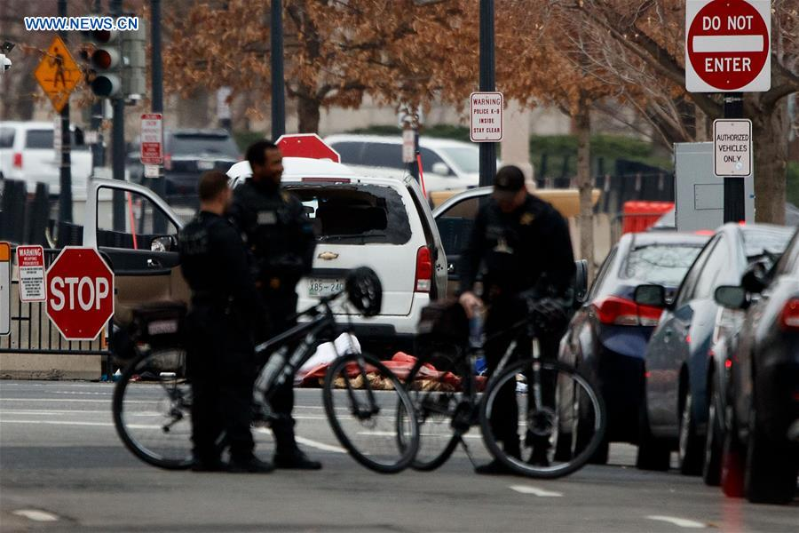 White House locked down after vehicle strikes barrier