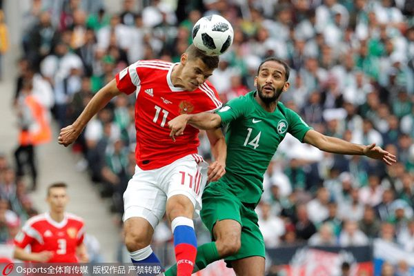 Russian Federation under pressure in opener against Saudi Arabia