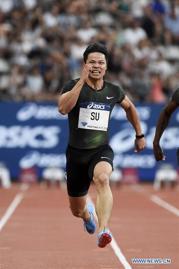 China's Su Bingtian equals 100m Asian record - China.org.cn