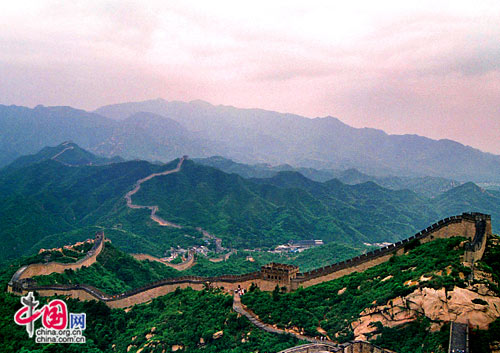 Badaling section of the Great Wall in Beijing, one of the 'Top 10 landmarks in China 2018' by China.org.cn