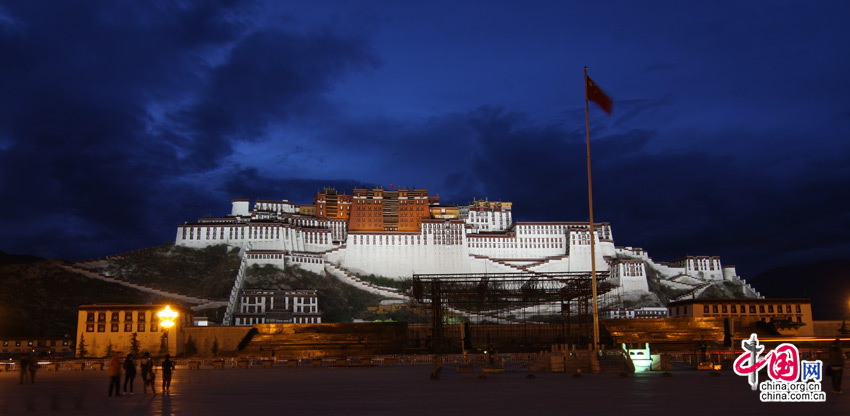 Potala Palace in Lhasa, one of the 'Top 10 landmarks in China 2018' by China.org.cn