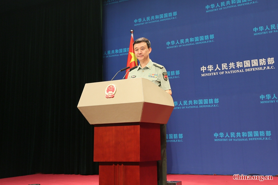 China's Defense Ministry spokesperson Wu Qian. [Photo by Guo Yiming/China.org.cn]