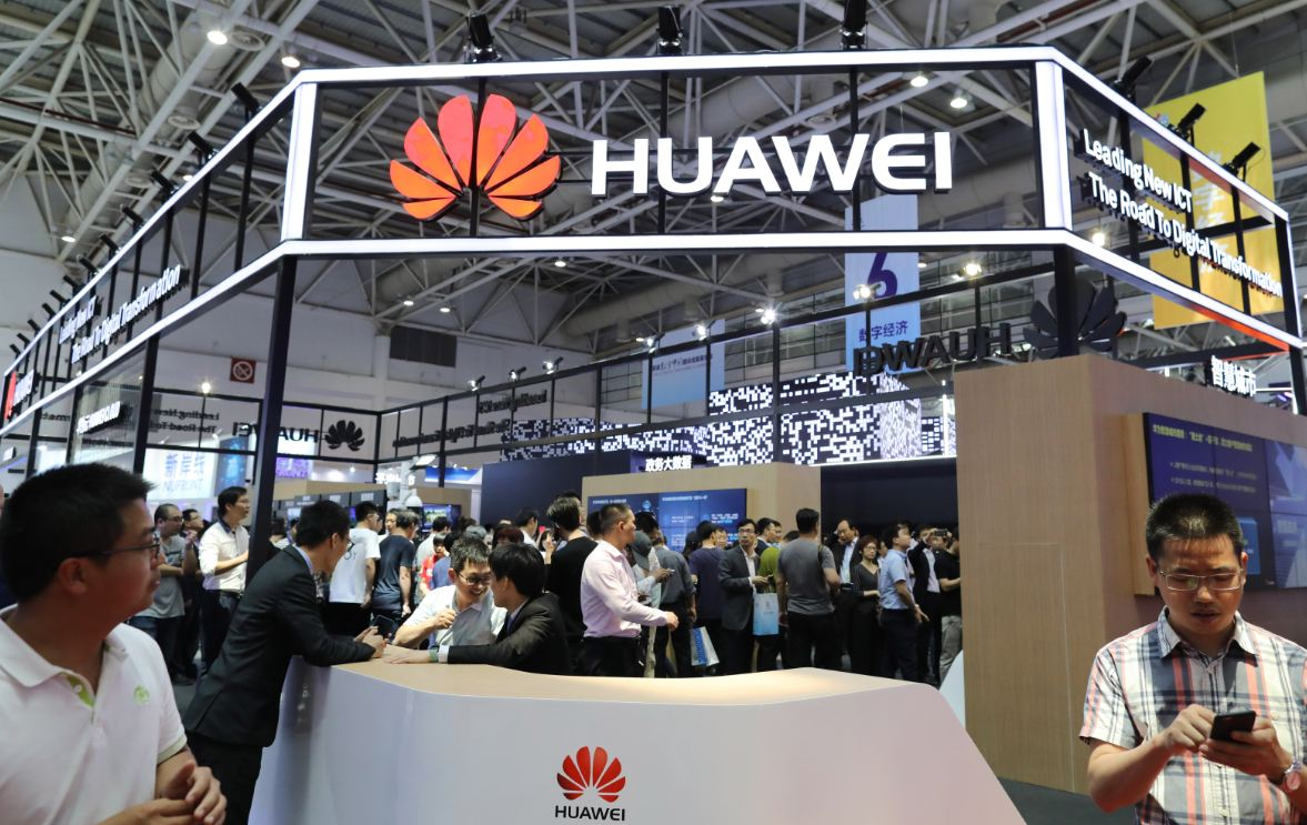 The booth of Huawei at a digital products exhibition in Fuzhou, Fujian province, on April 23. [Photo/China Daily]