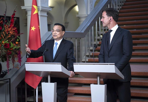 Maurits Hendriks Netherlands Prime Minister Mark Rutte L: China, Netherlands Call For Free Trade Against