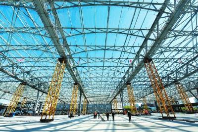 京张高铁清河站主体结构完工