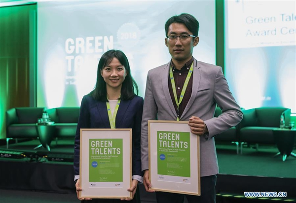 2 Chinese scientists win Germany's Green Talents Award