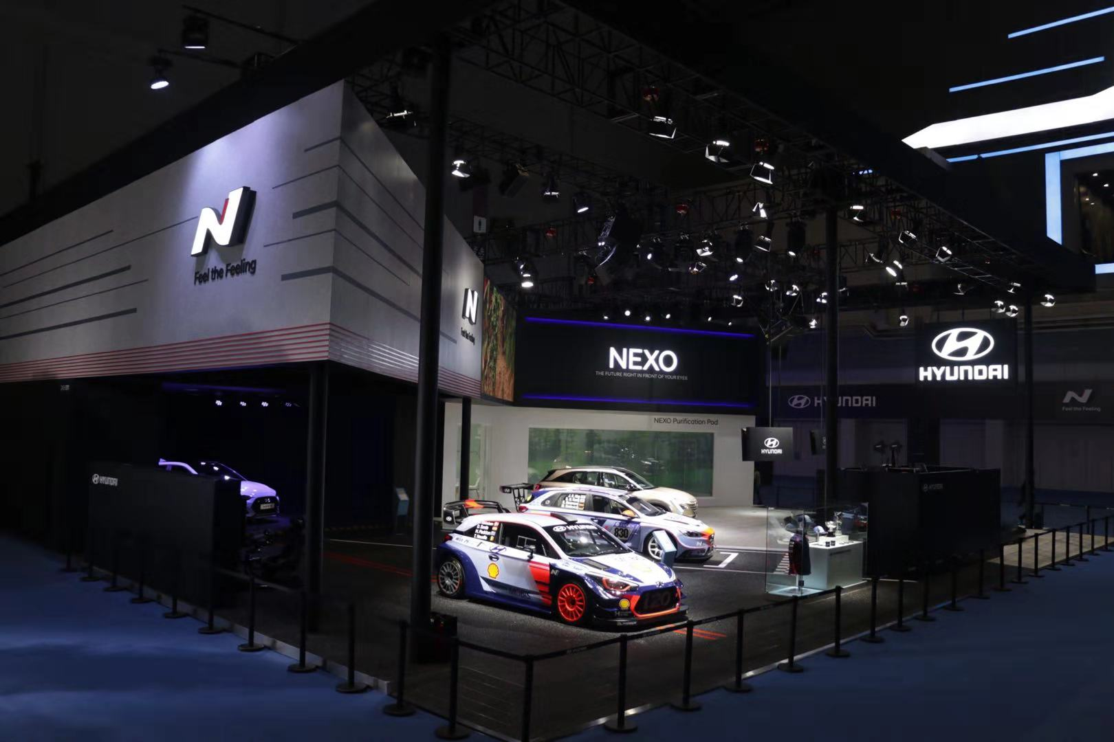 Hyundai presents high performance N brand products and the all-new fuel cell electric vehicle NEXO at the first China International Import Expo, which runs in Shanghai from Nov. 5 to 10. [Photo provided to China.org.cn]