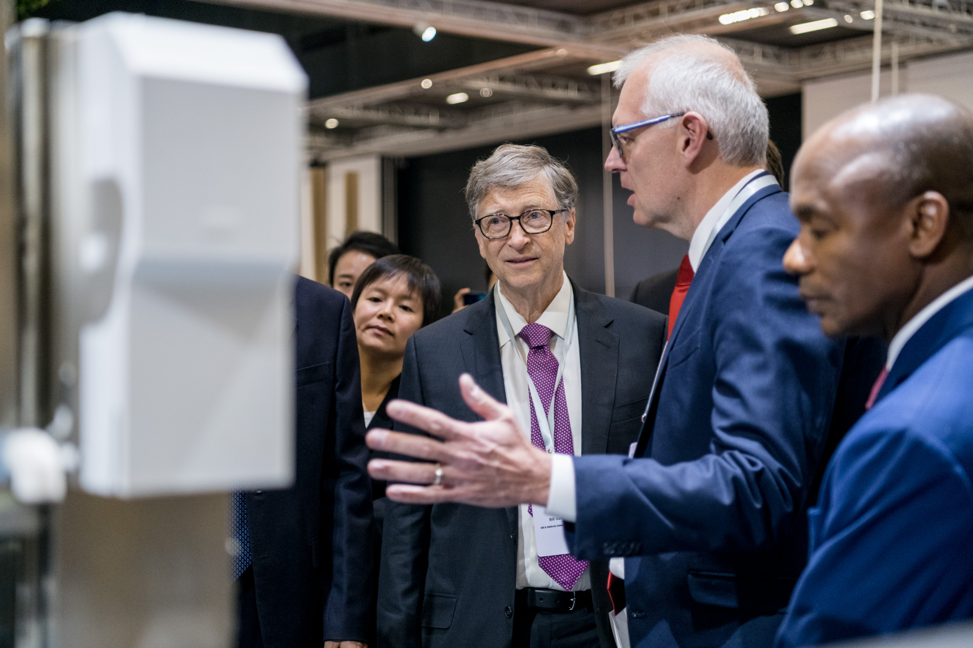 Bill Gates, founder of Microsoft and co-chair of the Bill & Melinda Gates Foundation visits the Reinvented Toilet Expo in Beijing, Nov. 6, 2018. [Photo courtesy of the Bill & Melinda Gates Foundation]