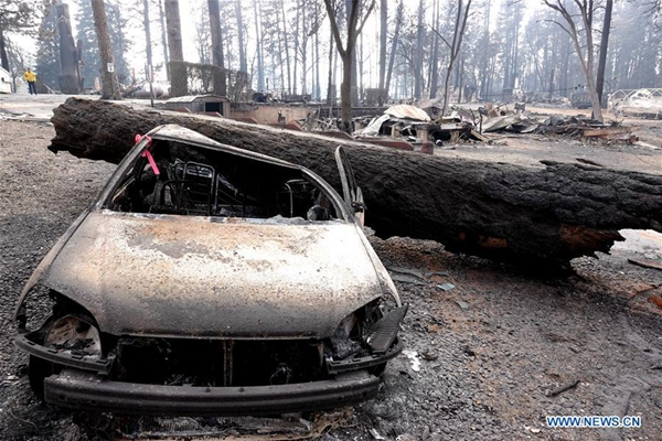 AP reports catastrophic Northern California fire is finally contained