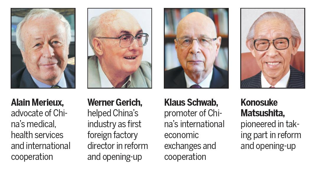 10 foreigners given medals for roles in reform, opening-up