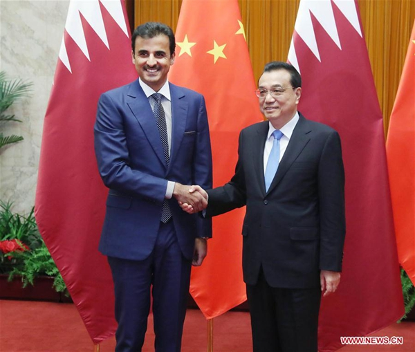 Li calls for all-round cooperation with Qatar