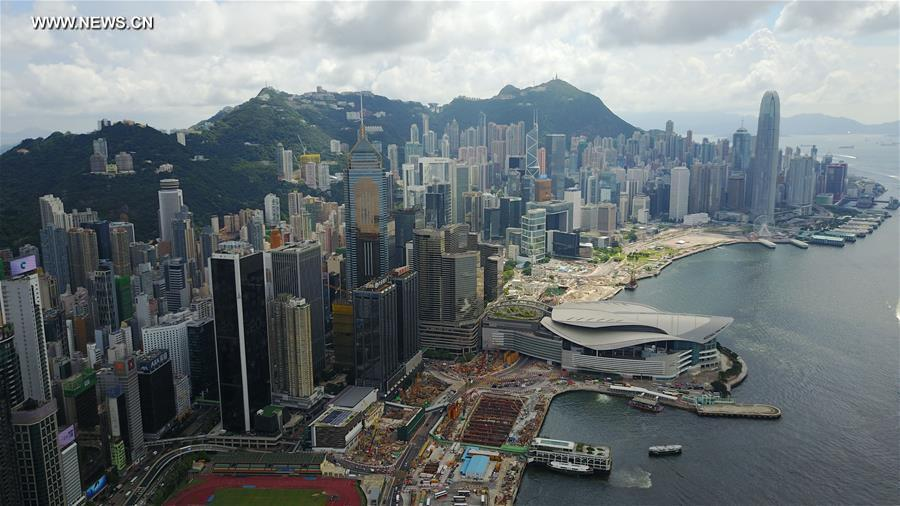 Office space in hong kong Laab Aerial View Taken On June 8 2017 Shows The Scenery In Hong Kong South China photoxinhua Spacesworks Hong Kong To Hold Top Spot As Worlds Most Expensive Office Market
