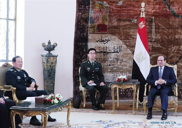 China, Egypt to further enhance defense cooperation