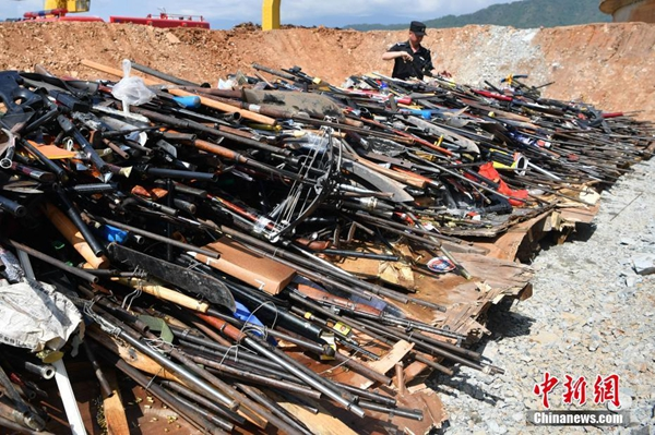 Crackdown on illegal firearms underway - Chinadaily.com.cn