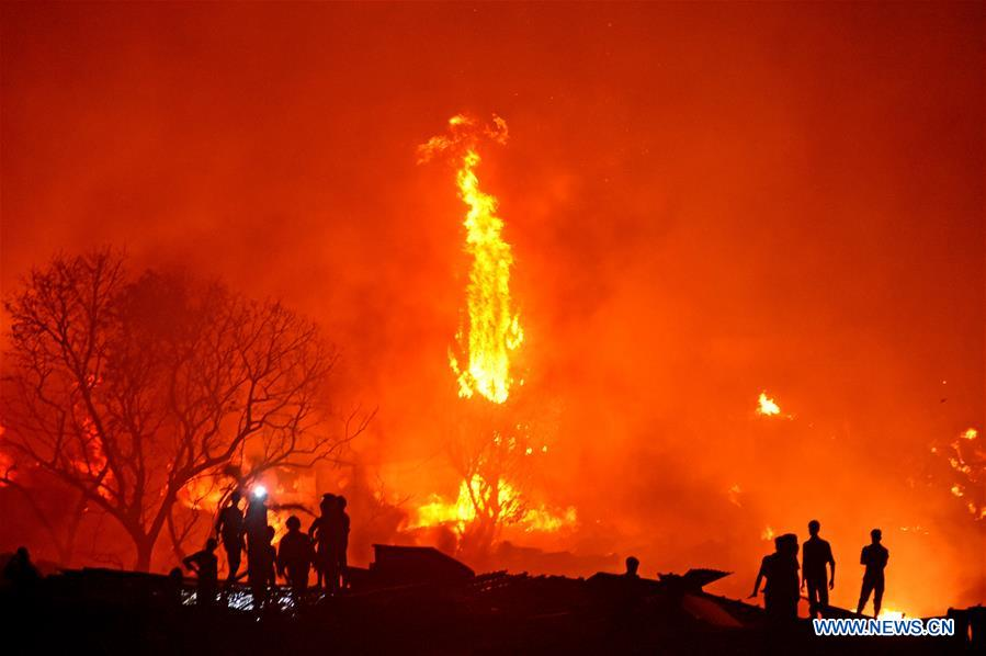 People Left Homeless After Fire Destroys Slum In Bangladesh