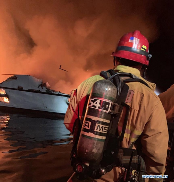 34 unaccounted for, 5 rescued in California boat fire