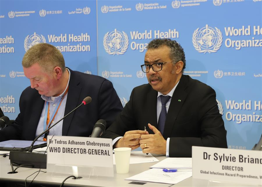 WHO's Tedros: Increase in coronavirus cases outside China is concerning