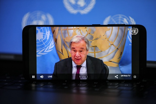 UN chief calls for post-COVID global governance based on solidarity, multilateralism