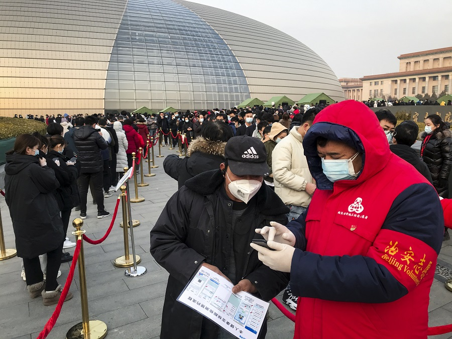 Mass COVID testing starts in two core Beijing districts