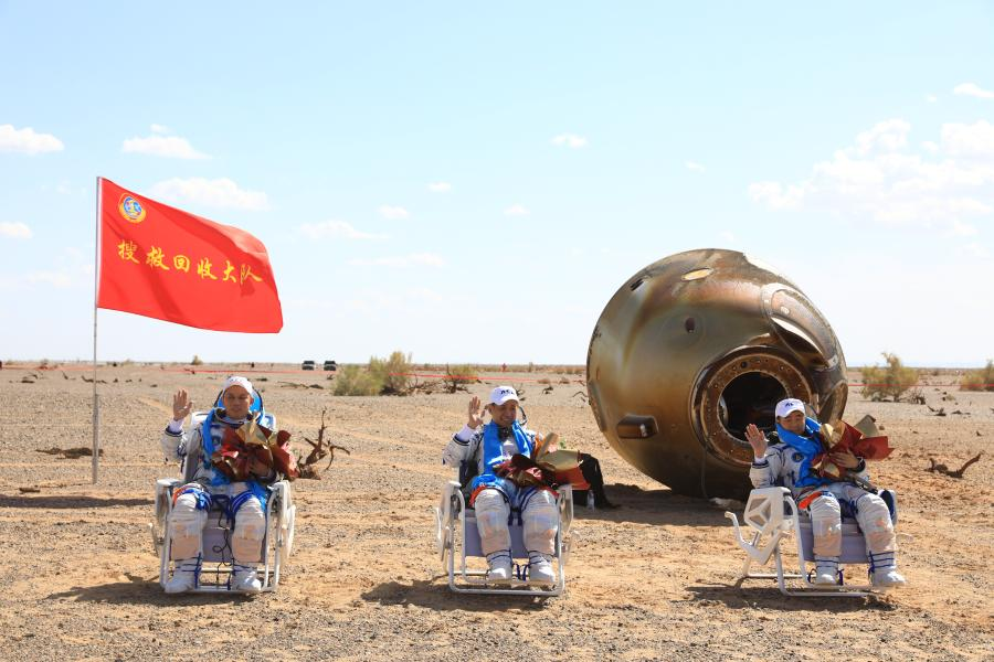 Chinese astronauts return with 1st mission for space station construction accomplished