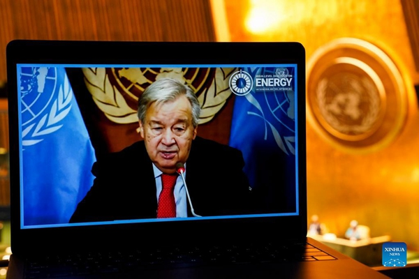 UN chief calls for rapid decarbonization of energy systems